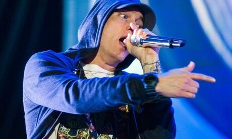 Rapper Eminem 2014 bei einem Konzert in Austin. Foto: Ashley Landis