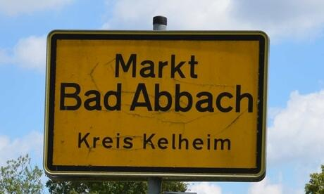 Ortsschild Bad Abbach