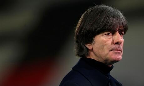 Germany's coach Joachim Loew reacts after the UEFA Nations League Group 4 football match of Germany vs Ukraine on November 14, 2020 at the Red Bull Arena stadium in Leipzig, eastern Germany. (Photo by Ronny HARTMANN / AFP) / ALTERNATIVE CROP